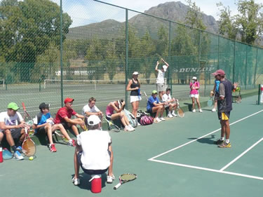 South African Tennis Outreach with Junior Players